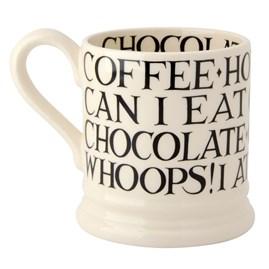 Emma Bridgewater Black Toast All Over Writing 1/2 Pint Mug