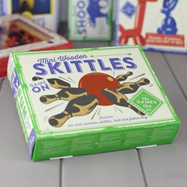 Mini Wooden Skittles Game