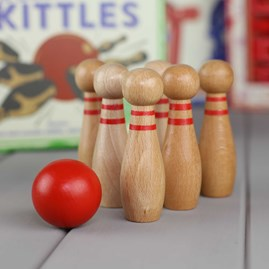 Mini Wooden Skittles Game