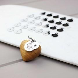 Handmade Wooden Heart Message Keyring