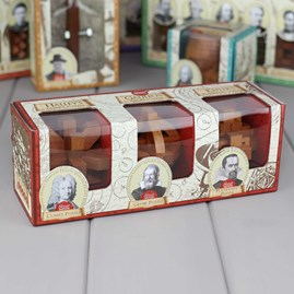 Three Classic Wooden Puzzles Based On Great Minds