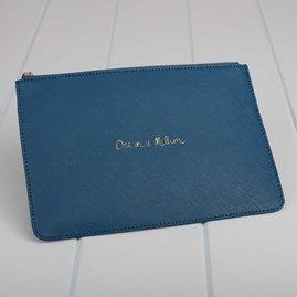 Personalised 'One In A Million' Peacock Perfect Pouch