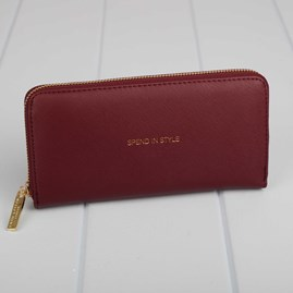 'Spend In Style' Purse In Burgundy