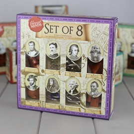 Set Of Eight Puzzles Based On Great Minds