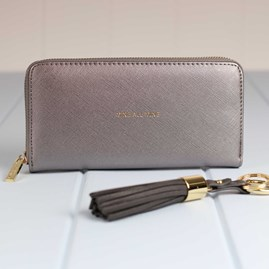 'Mine All Mine' Purse In Metallic Charcoal