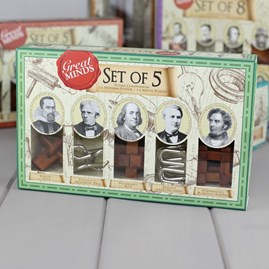 Set Of Five Puzzles Based On Great Minds