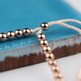 Personalised Rose Gold Friendship Bracelet