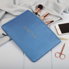 Personalised '…Dreamer' Blue Perfect Pouch