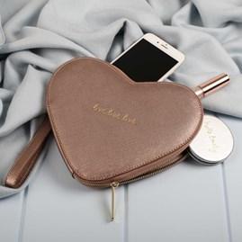 'Love Love Love' Heart Pouch
