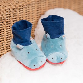Moulin Roty Hippo Baby Slippers