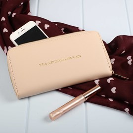 'Girls Just Want To Have Funds' Purse In Pale Pink