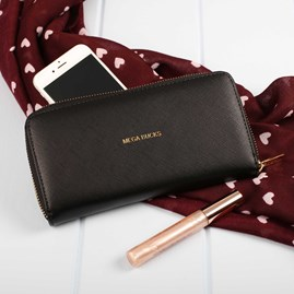 'Mega Bucks' Purse In Night Black