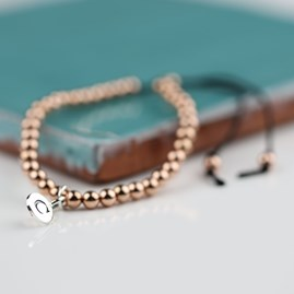 Personalised Rose Gold Friendship Bracelet