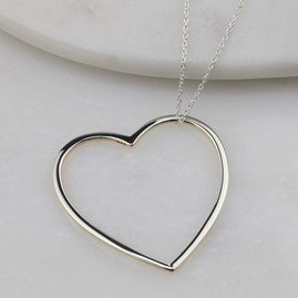 Sterling Silver And 18ct Gold Edged Necklace