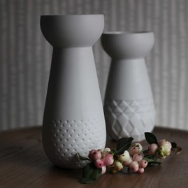 Porcelain Bulb Vase And Tea Light Holder With Dots