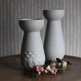 Porcelain Bulb Vase And Tea Light Holder