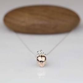Rose Gold Strawberry Pendant