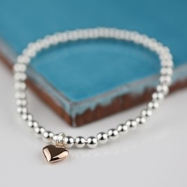 Personalised Rose Gold Heart Friendship Bracelet