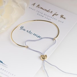 Gold 'You Are Wise' Reminder Bracelet
