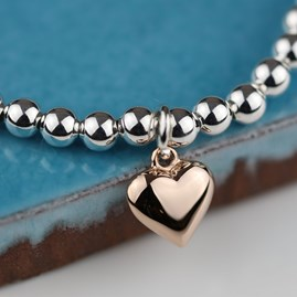 Double Drop Falling Hearts Necklace