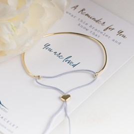 Gold 'You Are Loved' Reminder Bracelet