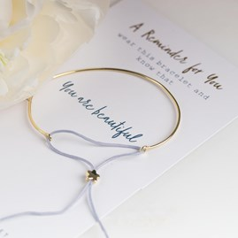 Gold 'You Are Beautiful' Reminder Bracelet
