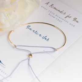 Gold 'You Are A Star' Reminder Bracelet