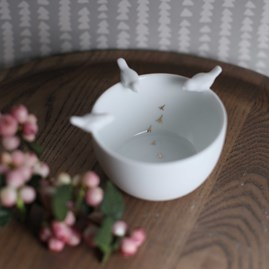 Porcelain Bird Tales Bowl