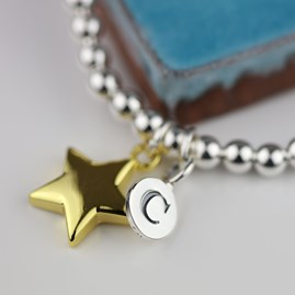 Personalised Mia Gold Star Bracelet