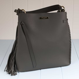 Florrie Handbag With Tassle And Side Stitching