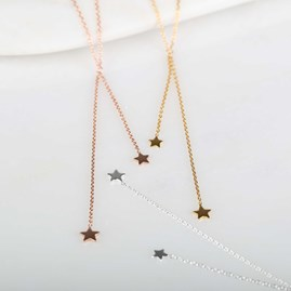 Double Drop Falling Stars Necklace