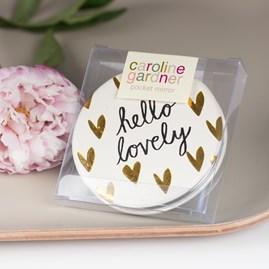 Caroline Gardner 'Hello Lovely' Pocket Mirror