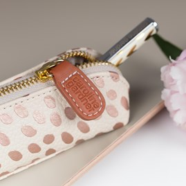 Caroline Gardner Metallic Dotty Essential Pencil Case
