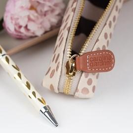 Caroline Gardner Metallic Hearts Boxed Pen