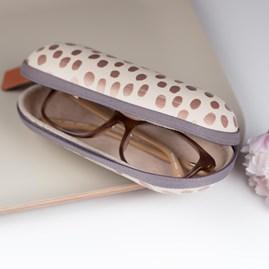 Caroline Gardner Metallic Dotty Glasses Case