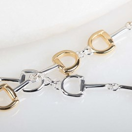 Solid Silver Riding Snaffle Bracelet
