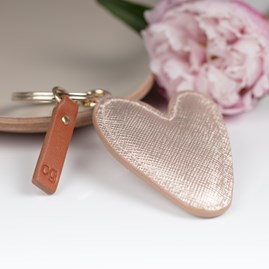 Caroline Gardner Metallic Heart Shaped Keyring
