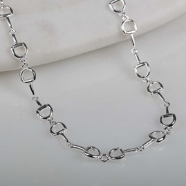 Solid Silver Riding Snaffle Necklace
