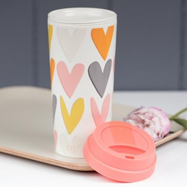 Caroline Gardner Hearts Layered Travel Mug