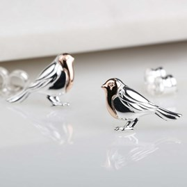 Rose Gold And Solid Silver Robin Bangle