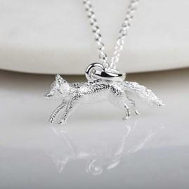 Stunning Silver Fox Pendant
