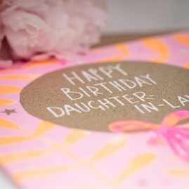 'Happy Birthday Daughter-In-Law' Greetings Card