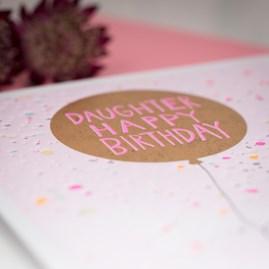 'Daughter Happy Birthday' Greetings Card