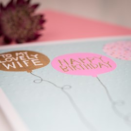 'To A Lovely Wife...' Greetings Card