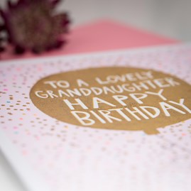 'To A Lovely Granddaughter...' Greetings Card