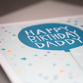'Happy Birthday Daddy' Greetings Card