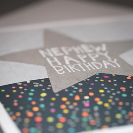 'Nephew Happy Birthday' Greetings Card