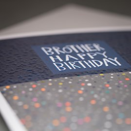 'Brother Happy Birthday' Greetings Card