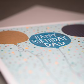'Happy Birthday Dad' Greetings Card
