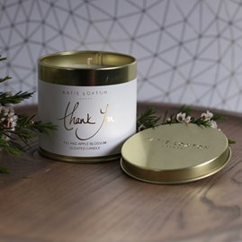 'Thank You' Round Tin Candle